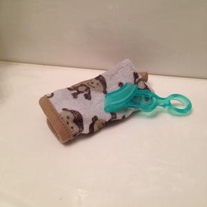 Washcloth& finger toothbrush